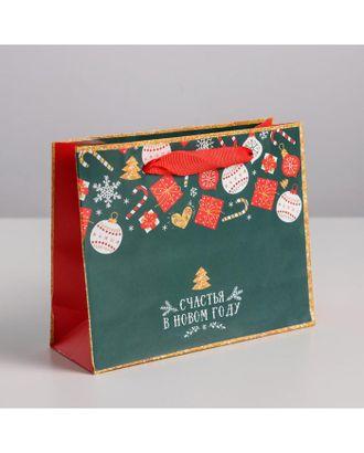 Пакет ламинированный горизонтальный «Счастья в Новом году», р.27 × 23 × 11,5 см арт. ЛМП-2-1-37392