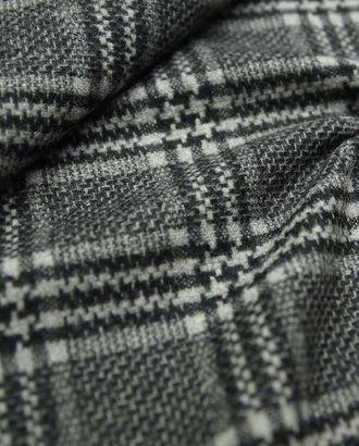 Двойная жаккардовая двухсторонняя пальтовая ткань в клетку серо-черного цвета арт. ГТ-2617-1-ГТ0047397