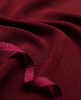 """Ткань плательная """"Кади"""", однотонная, цвет темно-бордовый арт. ГТ-2564-1-ГТ0047340"""