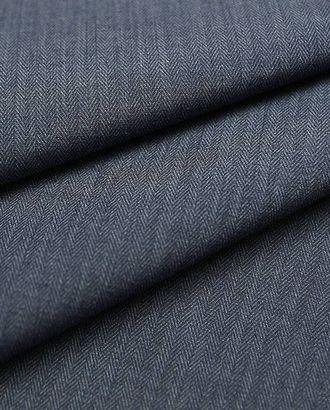 Хлопковая карманная ткань, сине-серая елочка арт. ГТ-2687-1-ГТ0047472