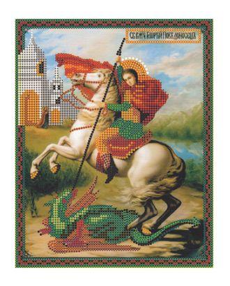 "Рис. на ткани ""Георгий Победоносец"" арт. ПВБ-27-1-16816"