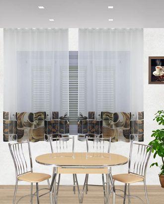 "Комплект штор для кухни ""Бонжур-кофе"" арт. ТКС-30-1-ТКС0017540271"