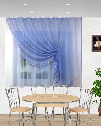 """Комплект штор для кухни """"Весна2"""" белый-голубой арт. ТКС-35-1-ТКС0017540276"""