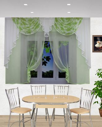 """Комплект штор для кухни """"Ирена"""" салатовый арт. ТКС-39-1-ТКС0017540280"""