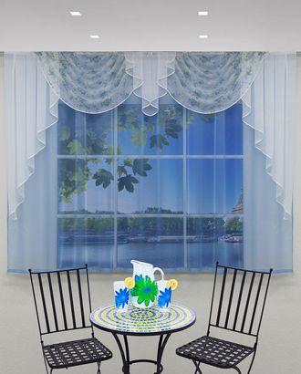 """Комплект штор для кухни """"Ирена"""" голубой арт. ТКС-41-1-ТКС0017540282"""