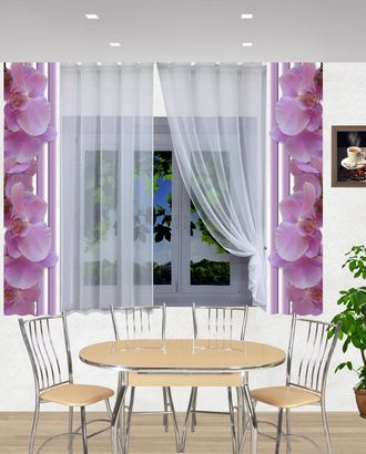"Комплект штор для кухни ""Лана-орхидеи"" арт. ТКС-54-1-ТКС0017540295"