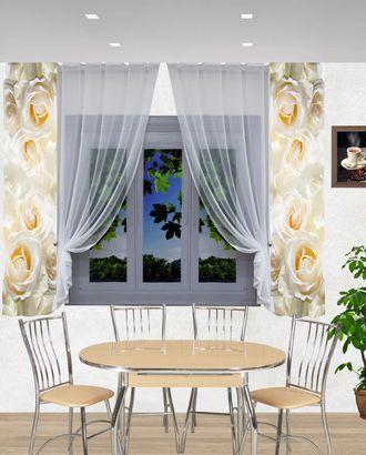 """Комплект штор для кухни """"Лана-розы"""" арт. ТКС-56-1-ТКС0017540297"""