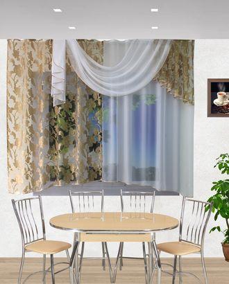 """Комплект штор для кухни """"Хлоя"""" коричневый арт. ТКС-83-1-ТКС0017540324"""