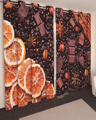 "Фотошторы ""Кофе,шоколад"" габардин 2,9*2,5 на люверсах арт. ТКС-354-1-ТКС0017540595"