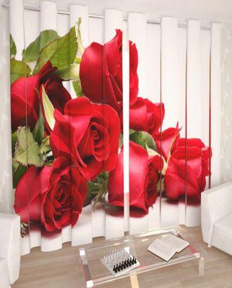 """Фотошторы """"Красные розы"""" габардин 2,9*2,5 на люверсах арт. ТКС-358-1-ТКС0017540599"""