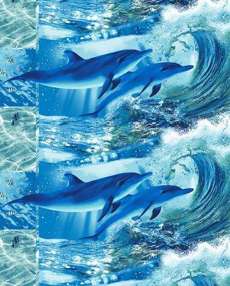 Дельфинарий полот. ваф. грунт 100*150 арт. ТЕКСД-2163-1-ТЕКСД0002163