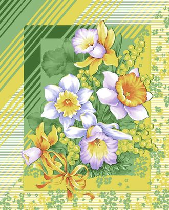 Утренние цветы полот. ваф. грунт 50*60 арт. ТЕКСД-2282-1-ТЕКСД0002282