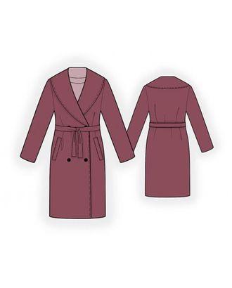 Выкройка: пальто с воротником шалька арт. ВКК-1832-1-ЛК0004007