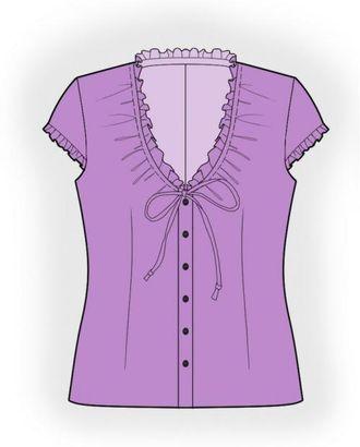 Выкройка: блузка с рюшей арт. ВКК-1282-1-ЛК0004056