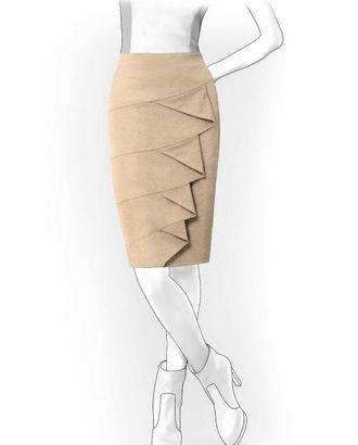Выкройка: юбка с косыми воланами арт. ВКК-782-1-ЛК0004069