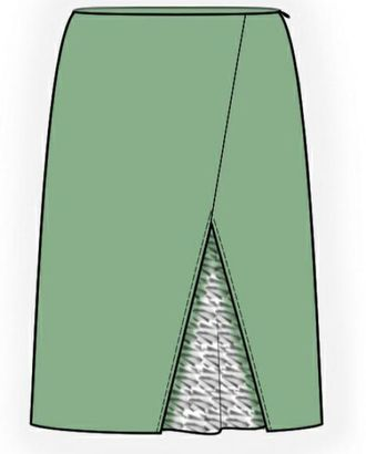 Выкройка: юбка с гипюровой вставкой арт. ВКК-1456-1-ЛК0004073