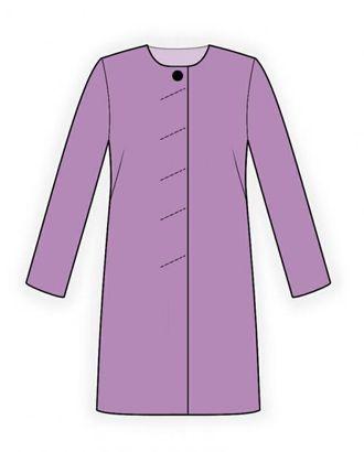 Выкройка: пальто летнее арт. ВКК-590-1-ЛК0004081