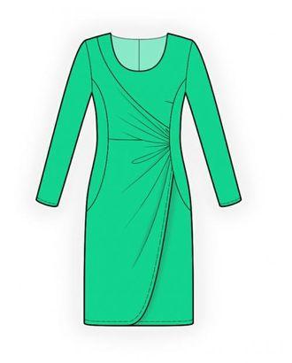 Выкройка: платье с драпировкой арт. ВКК-1921-1-ЛК0004094