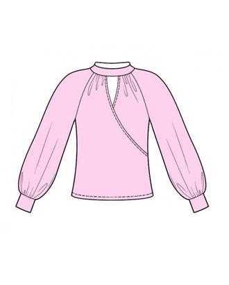 Выкройка: блузон с запахом арт. ВКК-1640-1-ЛК0004096