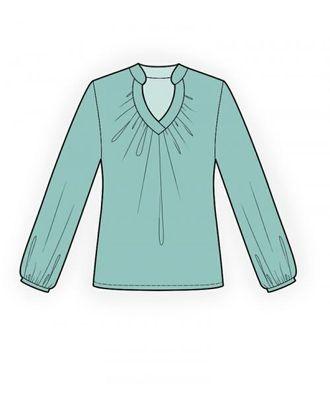 Выкройка: блузка со сборкой арт. ВКК-1440-1-ЛК0004100