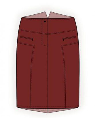 Выкройка: юбка джинсовая арт. ВКК-2003-1-ЛК0004103
