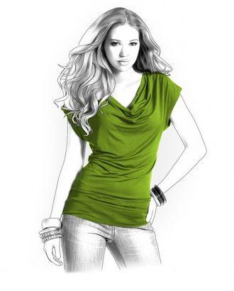 Выкройка: блузка с драпировкой арт. ВКК-1113-1-ЛК0004119