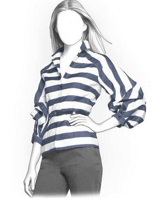 Выкройка: полосатая блузка арт. ВКК-737-1-ЛК0004121