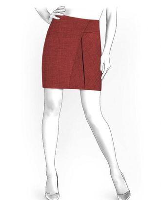 Выкройка: юбка со складками арт. ВКК-250-1-ЛК0004174