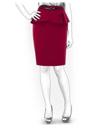 Выкройка: юбка с баской арт. ВКК-1244-1-ЛК0004180