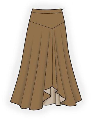 Выкройка: юбка длинная арт. ВКК-1467-1-ЛК0004186