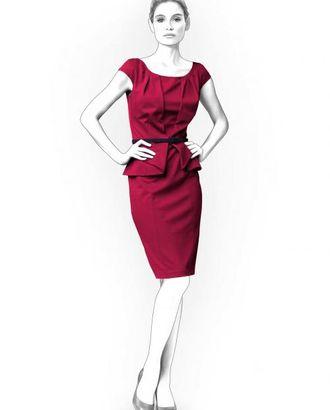 Выкройка: платье с баской арт. ВКК-1520-1-ЛК0004189