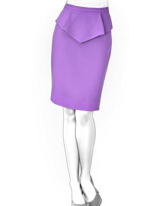 Выкройка: юбка с баской арт. ВКК-1179-1-ЛК0004198