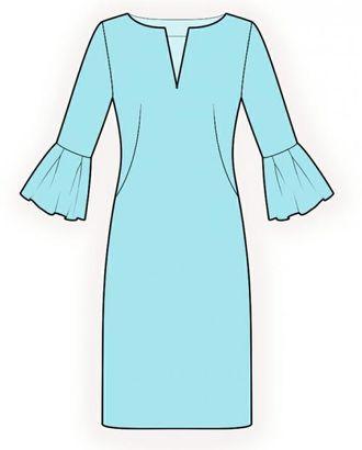 Выкройка: платье с декоративной манжетой арт. ВКК-1782-1-ЛК0004213
