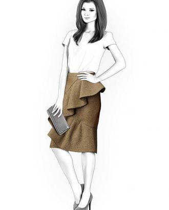 Выкройка: юбка с воланом арт. ВКК-1122-1-ЛК0004214