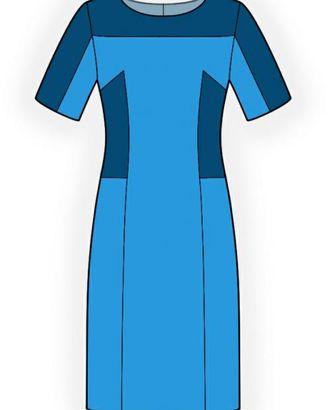 Выкройка: двухцветное платье арт. ВКК-1124-1-ЛК0004228