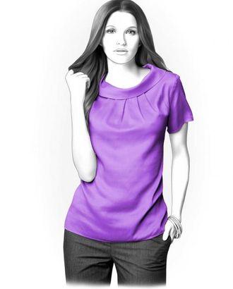 Выкройка: блузка с воротником-хомут арт. ВКК-1167-1-ЛК0004234