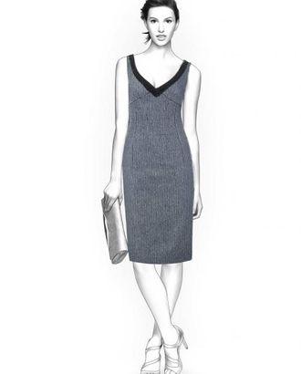 Выкройка: платье без рукавов арт. ВКК-1281-1-ЛК0004235