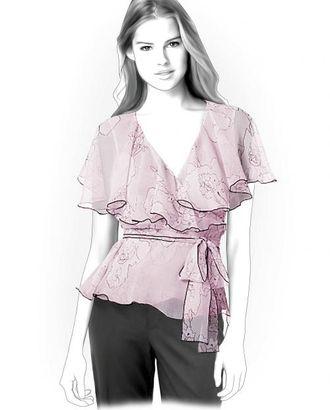 Выкройка: шифоновая блузка арт. ВКК-1874-1-ЛК0004238