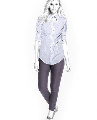 Выкройка: блузка с фигурным бортом арт. ВКК-1458-1-ЛК0004249