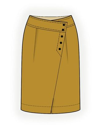 Выкройка: юбка с запахом арт. ВКК-1417-1-ЛК0004281