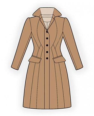 Выкройка: пальто приталенное арт. ВКК-925-1-ЛК0004298