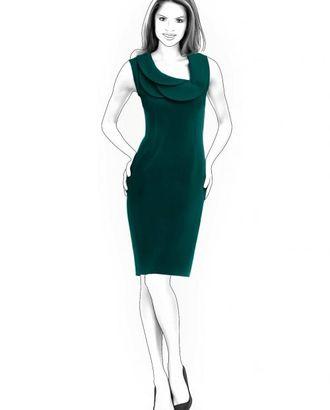 Выкройка: платье с декоративным воротником арт. ВКК-1376-1-ЛК0004320