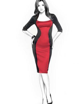 Выкройка: платье с декольте арт. ВКК-598-1-ЛК0004325