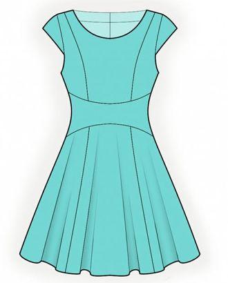 Выкройка: платье с фигурной вставкой арт. ВКК-1441-1-ЛК0004345