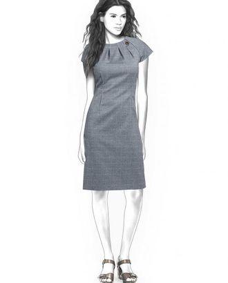 Выкройка: платье со складками арт. ВКК-1864-1-ЛК0004354