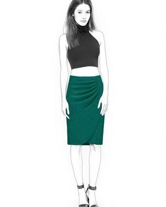 Выкройка: юбка со складками арт. ВКК-1321-1-ЛК0004355