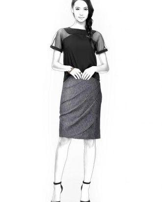 Выкройка: юбка с декоративным запахом арт. ВКК-1377-1-ЛК0004364