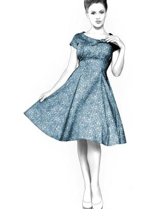 Выкройка: расклешеное платье арт. ВКК-1528-1-ЛК0004368