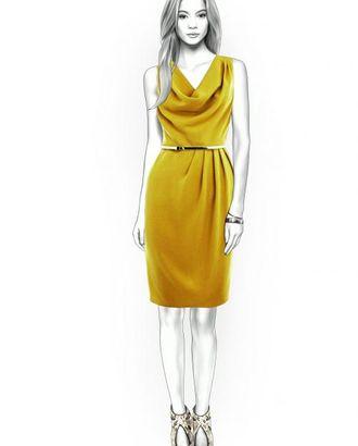 Выкройка: платье с горловиной качель арт. ВКК-2096-1-ЛК0004373