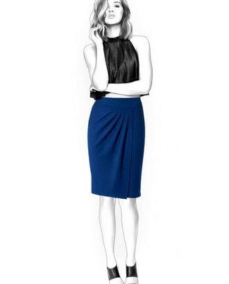 Выкройка: юбка со складками арт. ВКК-1485-1-ЛК0004377